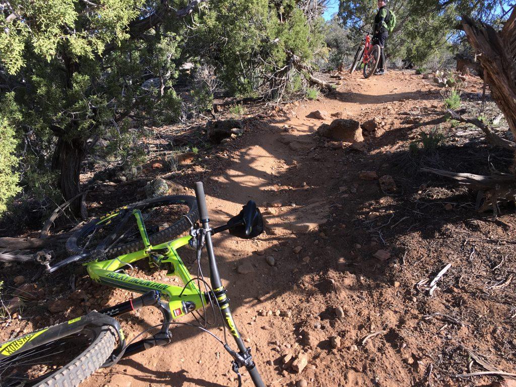 MTB crash scene Guacamole Trail.