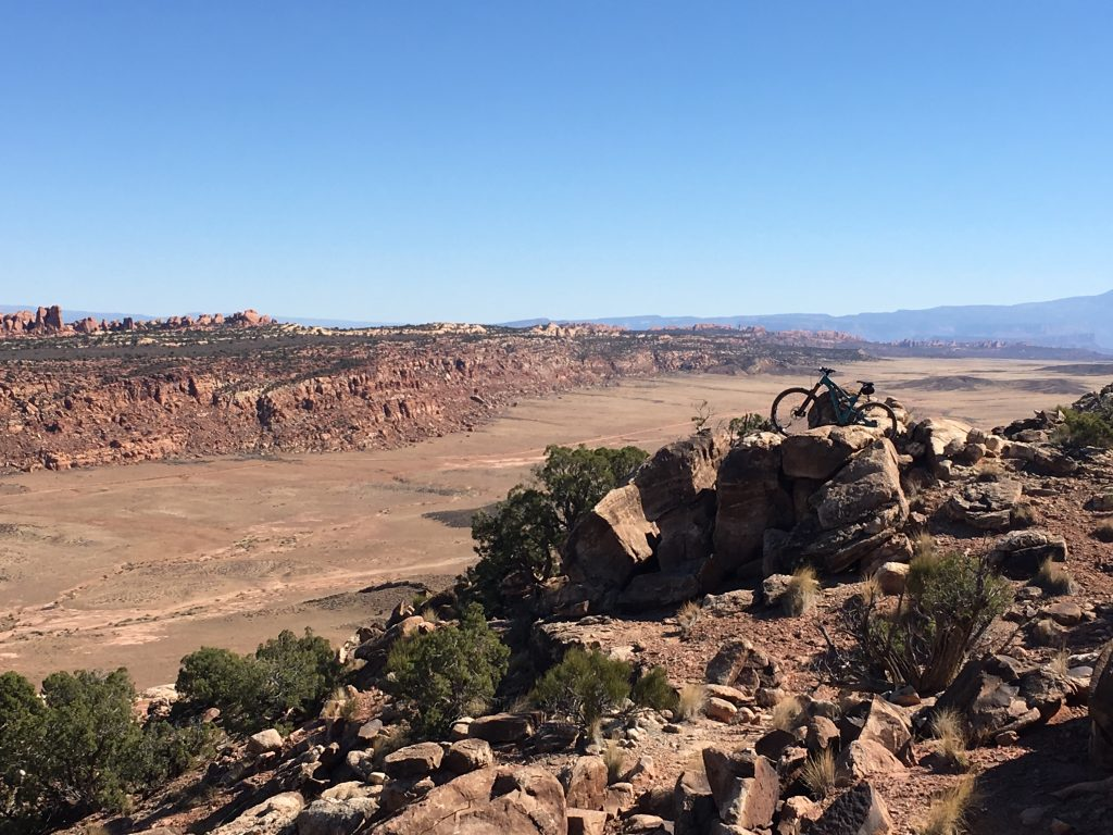 Overlooking Arches NP and Salt Valley from Alaska Trail.